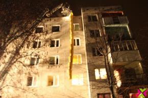 Pożar kamienicy przy ul. Sikorskiego w Chojnowie