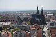 Legnica - Widok z wieży kościoła Mariackiego