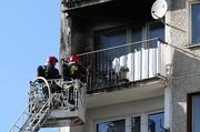 Legnica - Pożar balkonu przy ul. Szaniawskiego