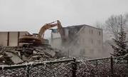 Legnica - Wyburzenie Internatu Henrykówki w Legnicy