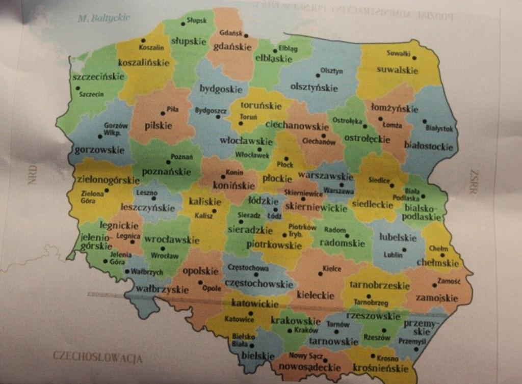 Mapa Polski Podział na Województwa Podział Polski na 49